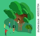 tree house children's games.... | Shutterstock .eps vector #400535704