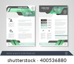 front and back page brochure... | Shutterstock .eps vector #400536880