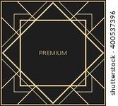 vector geometric frame in art... | Shutterstock .eps vector #400537396