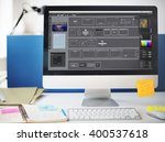 edit software templates design... | Shutterstock . vector #400537618