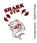 shark from gym on white...   Shutterstock .eps vector #400537966
