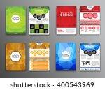 set brochure templates  flyers  ... | Shutterstock .eps vector #400543969