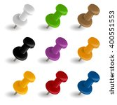 pin collection 9 colors | Shutterstock .eps vector #400551553