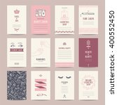 cosmetics shop business cards ... | Shutterstock .eps vector #400552450