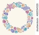 seashell round multicolored... | Shutterstock .eps vector #400554520