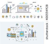 modern industry thin block line ... | Shutterstock .eps vector #400554928