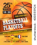 basketball poster with... | Shutterstock .eps vector #400555924