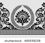 paisley indian motif | Shutterstock .eps vector #400558258