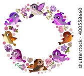 set of vector birds  funny bird ... | Shutterstock .eps vector #400558660