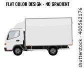 vector small truck. cargo... | Shutterstock .eps vector #400562176