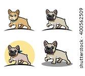 french bulldog cartoon mascot...   Shutterstock .eps vector #400562509