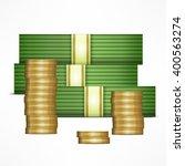 piles of money stack. cash...   Shutterstock .eps vector #400563274