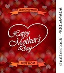 mothers day flyer with ribbon.... | Shutterstock .eps vector #400564606
