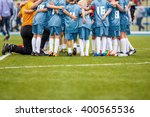 youth soccer football team.... | Shutterstock . vector #400565536