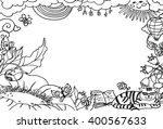 children coloring frame | Shutterstock .eps vector #400567633