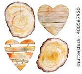 watercolor wood texture set.... | Shutterstock . vector #400567930