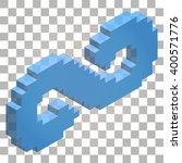 3d infinity symbol vector pixel ... | Shutterstock .eps vector #400571776