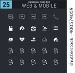 25 universal icon set. simple... | Shutterstock .eps vector #400574059