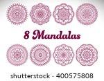 flower mandalas. vintage... | Shutterstock .eps vector #400575808
