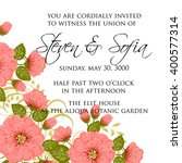 wedding card or invitation with ... | Shutterstock .eps vector #400577314