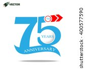 75th years anniversary label... | Shutterstock .eps vector #400577590