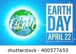 earth day banner. vector... | Shutterstock .eps vector #400577653