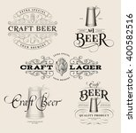 set of vintage beer logos.... | Shutterstock .eps vector #400582516