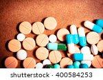 closeup of medical capsule or...   Shutterstock . vector #400584253