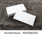 photo of blank business cards... | Shutterstock . vector #400586350