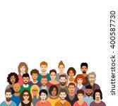 people crowd vector illustration | Shutterstock .eps vector #400587730