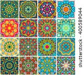 set of ethnic seamless pattern. ... | Shutterstock .eps vector #400589044