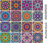 set of ethnic seamless pattern. ... | Shutterstock .eps vector #400589050