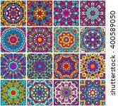 set of ethnic seamless pattern. ... | Shutterstock .eps vector #400589050