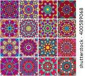 set of ethnic seamless pattern. ...   Shutterstock .eps vector #400589068