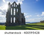 Whitby Abbey At Sunset In Nort...