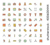 thin line icons for science ...