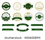 guaranteed halal food sign... | Shutterstock .eps vector #400600894