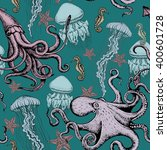 seamless hand drawn pattern... | Shutterstock . vector #400601728