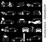 car crash accident and... | Shutterstock .eps vector #400608109