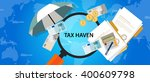 tax haven country finance... | Shutterstock .eps vector #400609798