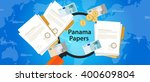 panama papers leaked document... | Shutterstock .eps vector #400609804