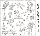 hand drawn doodle cuba travel... | Shutterstock .eps vector #400612468
