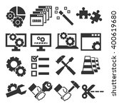 alter  modify  fix icon set | Shutterstock .eps vector #400619680
