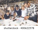 electronic experiment... | Shutterstock . vector #400622578