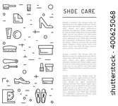 set icons items for shoe care.... | Shutterstock .eps vector #400625068