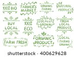 set of vector typographic... | Shutterstock .eps vector #400629628
