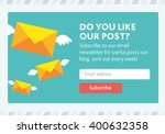 vector template for email... | Shutterstock .eps vector #400632358