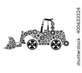 tractor. icon of tractor from... | Shutterstock .eps vector #400633324