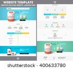 website template design for... | Shutterstock .eps vector #400633780