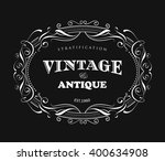 vintage frame design antique... | Shutterstock .eps vector #400634908